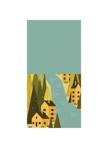 Artikel Dere Manzaralı Dekoratif Çift Taraflı Yastık Kırlent Kılıfı 45x45 cm Renkli